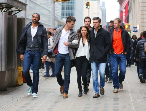 EXCLUSIVE: Kaitlyn Bristowe of 'The Bachelorette' takes in the sights in New York City with several of the male contestants