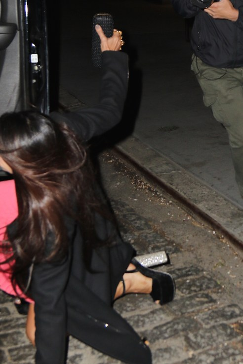 Amal Clooney's Sister, Tala Alamuddin takes an unfortunate tumble following her birthday celebration at Il Buco in Noho