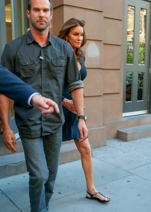 Caitlyn Jenner leaves at the The Lesbian, Gay, Bisexual and Transgender Community Center in New York City on June 30 after she participated in NYC's Pride Parade this past weekend. (Photo: Ordonez/Cepeda/INFphoto.com)