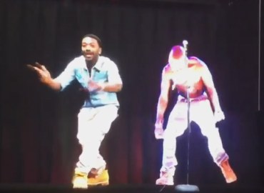 Ray j dances with 2pac hologram