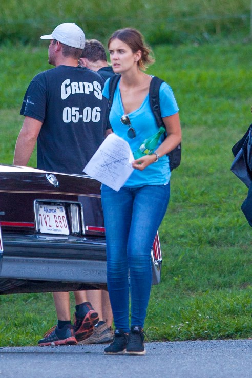 "Jasper, GA - Tom Cruise continues to stay hard at work on his new film, ""Mena"" and keeps his Katie Holmes look-a-like assistant Emily close to his side.  In between takes Emily is constantly at Tom's side and engaged with flirty conversation.  It has been reported in the past Tom was crushing on Emily during the filming of his film, ""Mission: Impossible 5"" back in 2014.  Is Tom and Emily taking their relationship to the next level? AKM-GSI          June  4, 2015 To License These Photos, Please Contact : Steve Ginsburg (310) 505-8447 (323) 423-9397 steve@akmgsi.com sales@akmgsi.com or Maria Buda (917) 242-1505 mbuda@akmgsi.com ginsburgspalyinc@gmail.com"