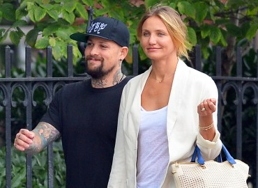 Exclusive... Lovestruck Couple Cameron Diaz and Benji Madden Hold Hands and Kiss in New York   NO INTERNET USE WITHOUT PRIOR AGREEMENT