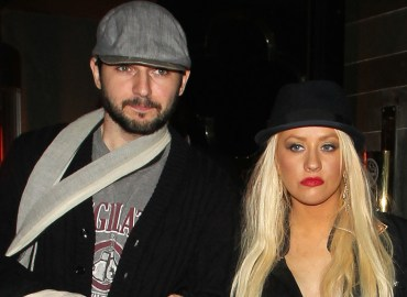 Christina Aguilera and Matt Rutler are seen leaving Hakkasan Restaurant.