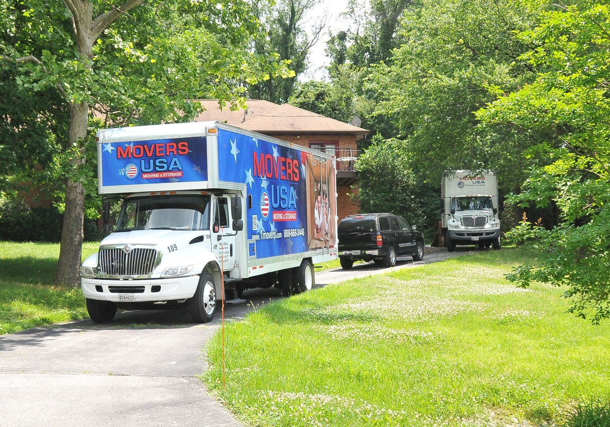 Moving trucks spotted outside Josh Duggars Maryland home
