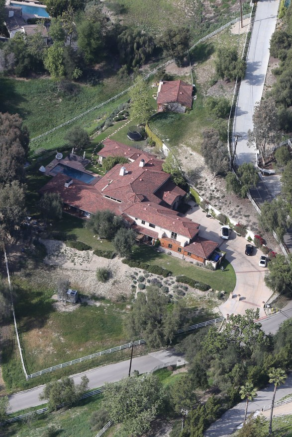 The home of LeAnn Rimes and Eddie Cibrian in Los Angeles, California.
