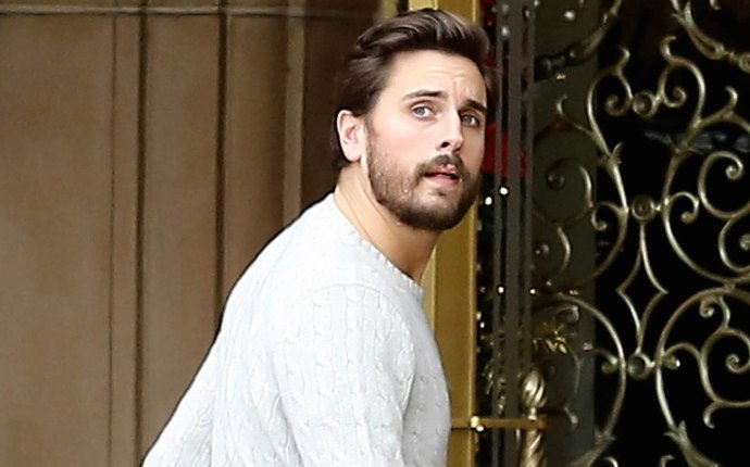 Exclusive... Scott Disick Visits The Montage Hotel