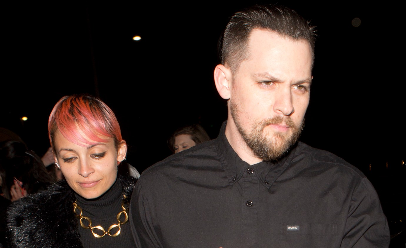 Nicole Richie and her husband Joel Madden were seen leaving Valentines day dinner at Giorgio Baldi in Santa Monica, CA