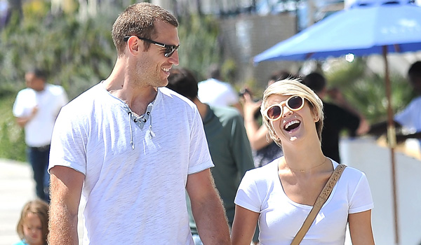 Julianne Hough and boyfriend Brooks Laich take a sunny stroll in Santa Monica