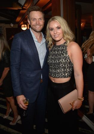 Joel McHale and Lindsey Vonn