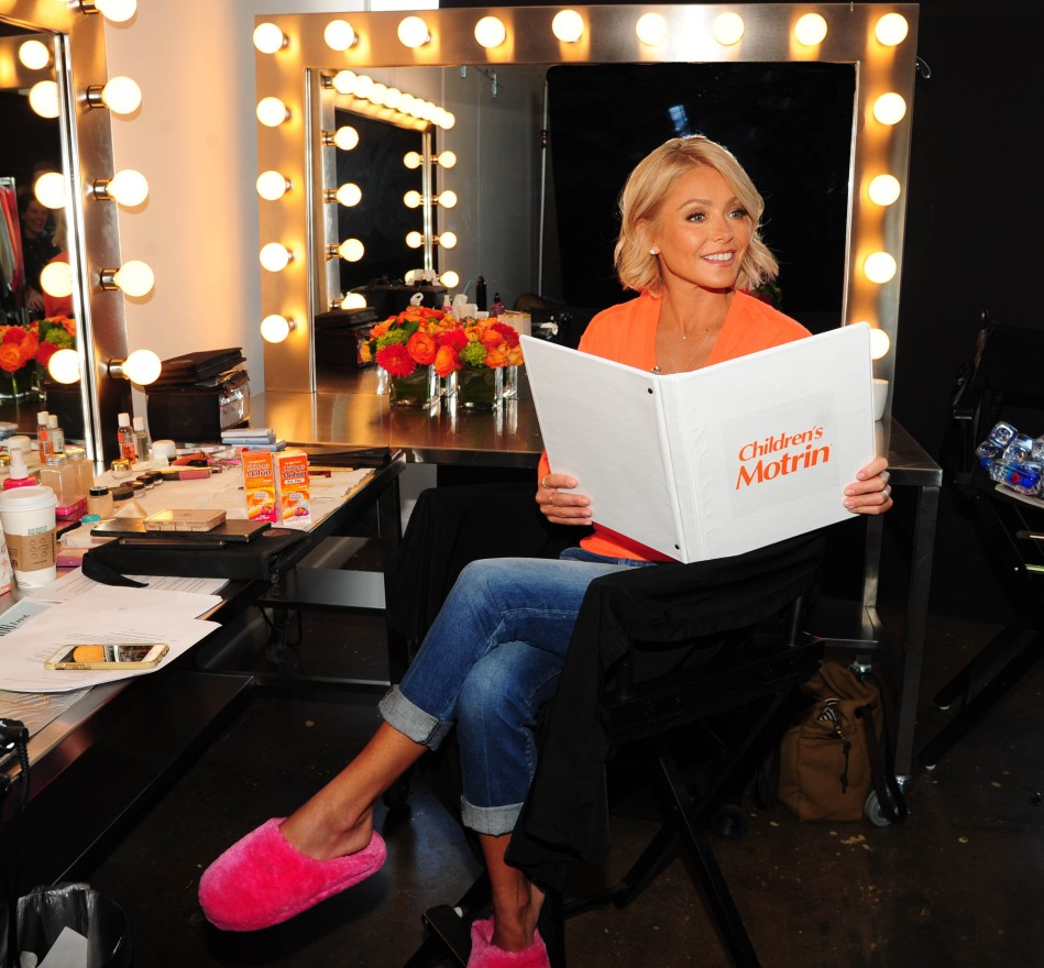 Kelly Ripa on the set of her Children`s MOTRIN My Unstoppable Mom Campaign