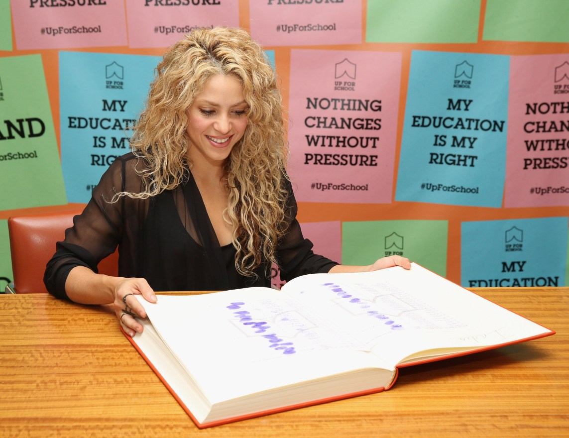 Shakira Supports #UpForSchool Education Petition