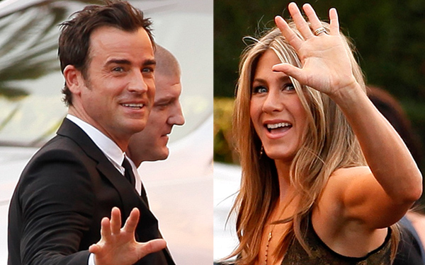 Jen aniston justin theroux living apart