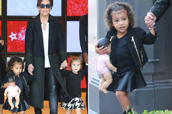 Kris Jenner takes North and Penelope to American Girl Doll Store