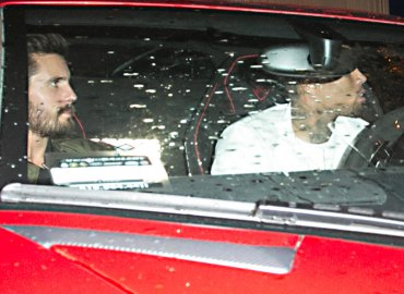 Scott disick partying after rehab chris brown 06
