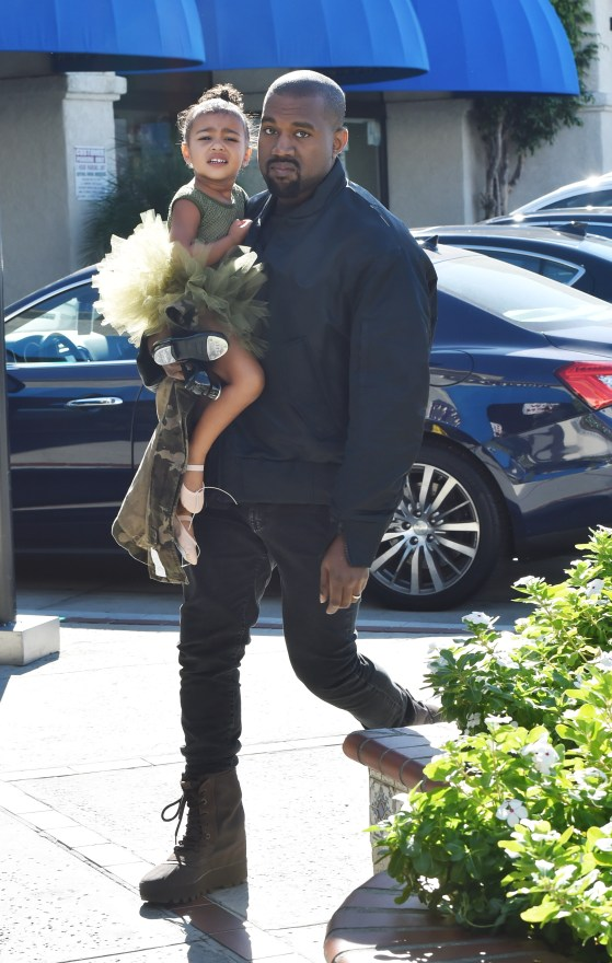 Kanye West Takes Daughter North West To Ballet Class