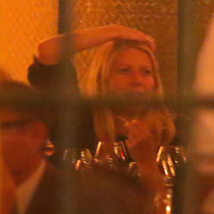 EXCLUSIVE: Gwyneth Paltrow was spotted having dinner at Dirty French with Cameron Diaz and Drew Barrymore this evening in New York