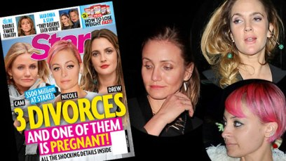 Drew barrymore pregnant divorce cameron diaz nicole richie club pp1