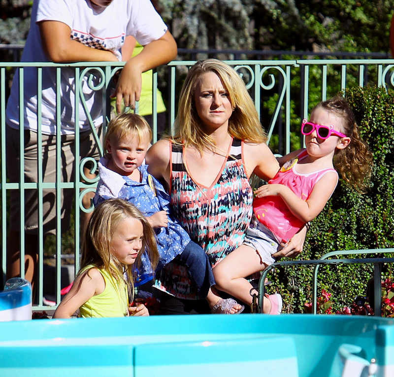 'Teen Mom' Leah Messer takes her daughters to Disneyland in Anaheim, CA