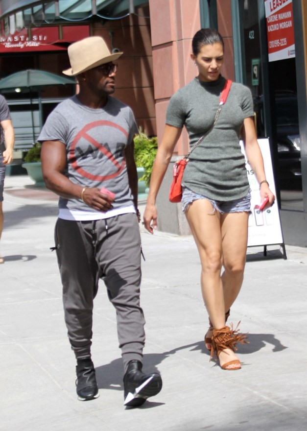 Taye Diggs goes shopping with his girlfriend inBeverlyHills