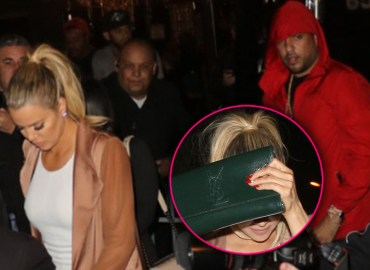 Khloe kardashian spotted leaving strip club with french montana