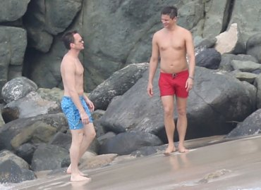 Neil Patrick Harris David Burtka Kiss Shirtless St. Barts