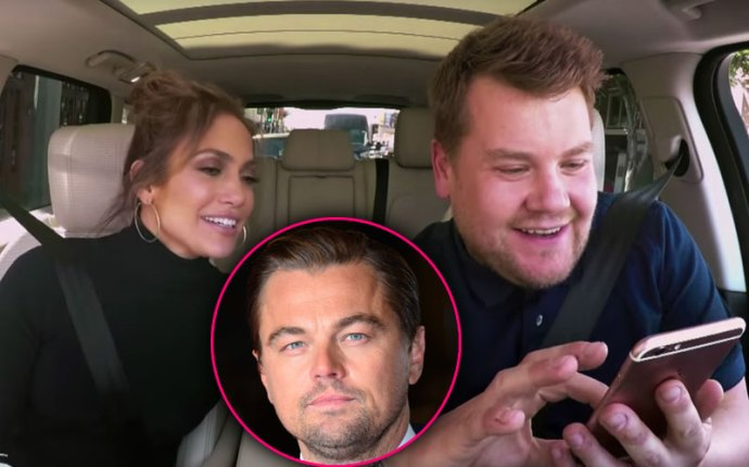 james-corden-carpool-karaoke-jennifer-lopez-texts-leonardo-dicaprio