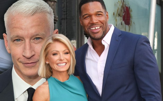 anderson cooper michael strahan leaves live with kelly and michael