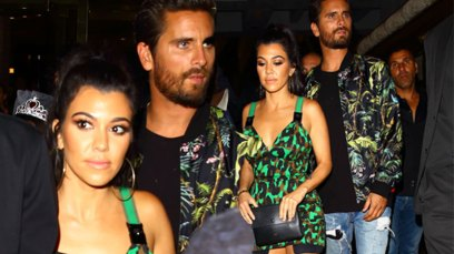 kourtney kardashian scott disick pda birthday vegas pics