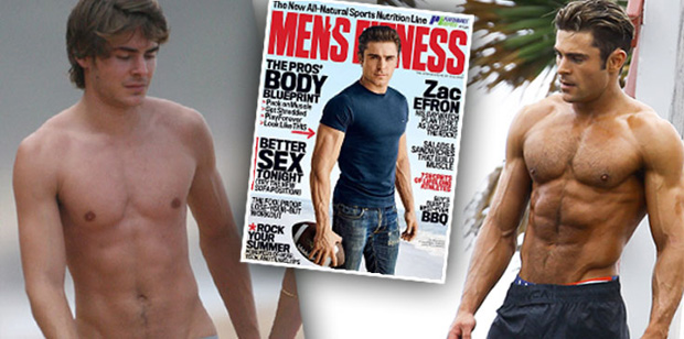 Zac Efron Transformation Mens fitness ok hero