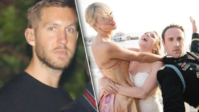 calvin harris taylor swift break up boys night wedding pics