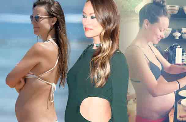 Olivia Wilde Pregnant Baby Bump Naked Belly Pics 1