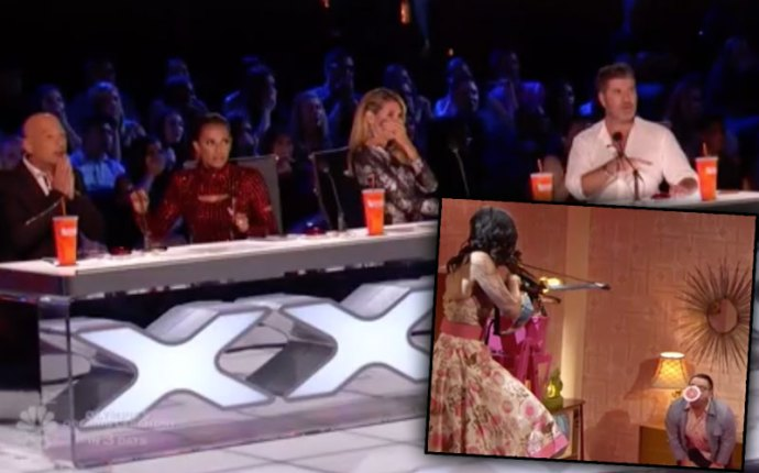 Americans Got Talent Stunt Fire Flaming Arrow Man Shot Video