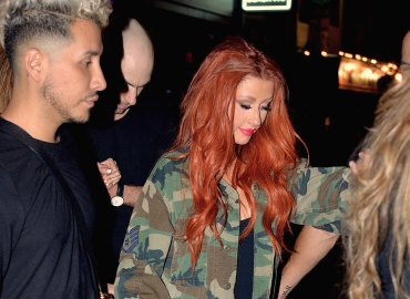 Christina aguilera help leaving club