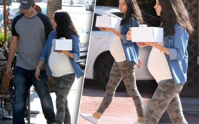 Mila Kunis Pregnant Baby Bump Pics 3