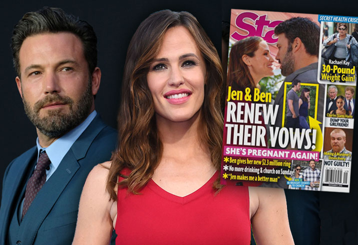 Ben Affleck Jennifer Garner Divorce Off Back Together Renew Vows Rumors 1