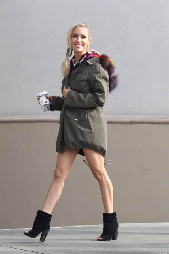 *EXCLUSIVE* Kristin Cavallari shows off her toned legs as she steps out for coffee