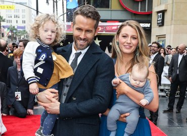Blake lively ryan reynolds daughters first public appearance hollywood walk of fame