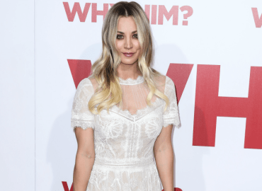 Kaley cuoco sheer dress red carpet