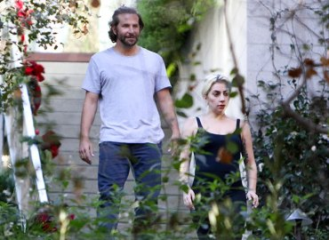 Lady gaga visits bradley cooper upcoming movie co stars