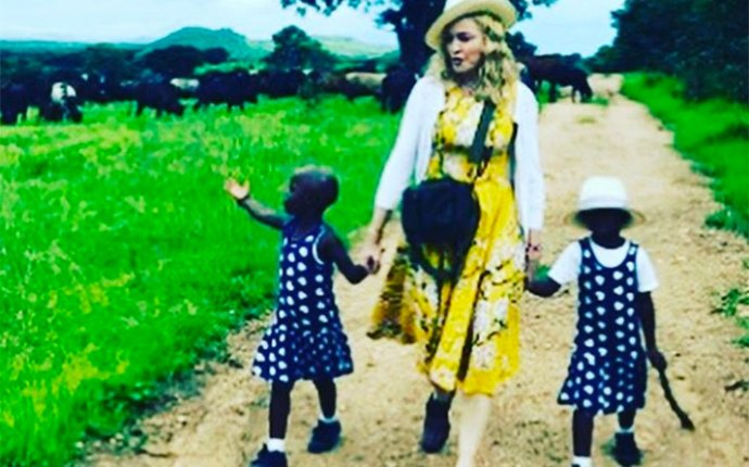Madonna adopts twin girls malawi offical
