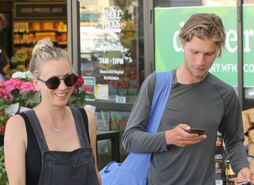 *EXCLUSIVE* Kaley Cuoco and Karl Cook load up on groceries at Whole Foods