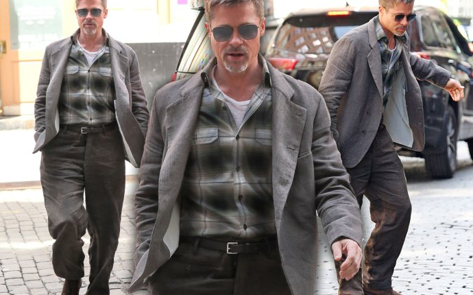 Brad Pitt Divorce Skinny Weight Big Pants