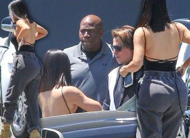 Kim Kardashian Filming KUWTK Jonathan Cheban Butt Scandal Video