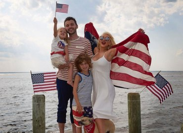 How celebrities partied fourth of july