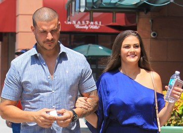 Reality couple Jax Taylor and Brittany Cartwright enjoy lunch in Beverly Hills