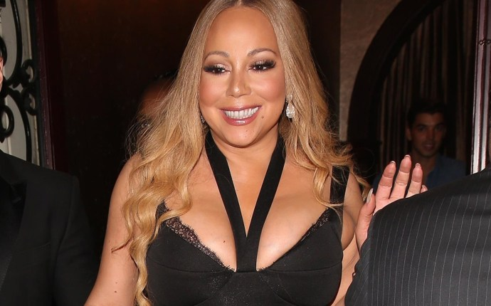 Mariah Carey and Bryan Tanaka depart after a date night at Mastro's