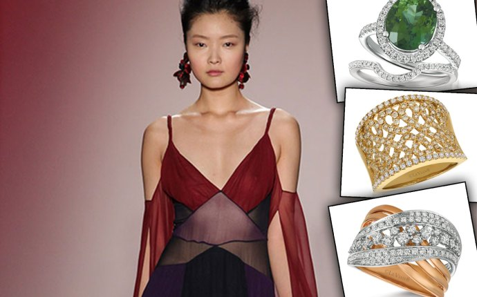 Fashion week color block jewelry star