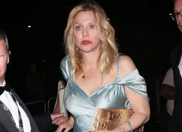 Troubled courtney love stumbles at a list bash