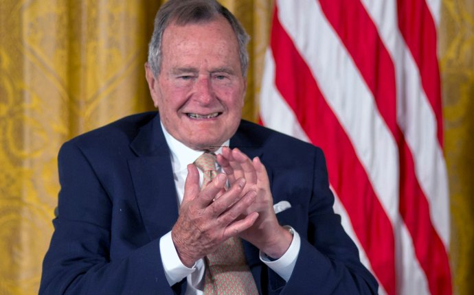 President George H W Bush Touching Womans Butt Photo Amid Sexual Assault Scandal