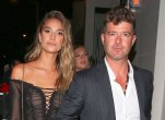 Robin thickes 22 year old pregnant girlfriend growing baby bump